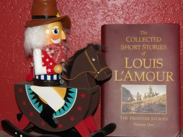 The Collected Short Stories of Louis L'Amour and my 2011 Christmas Nutcracker.