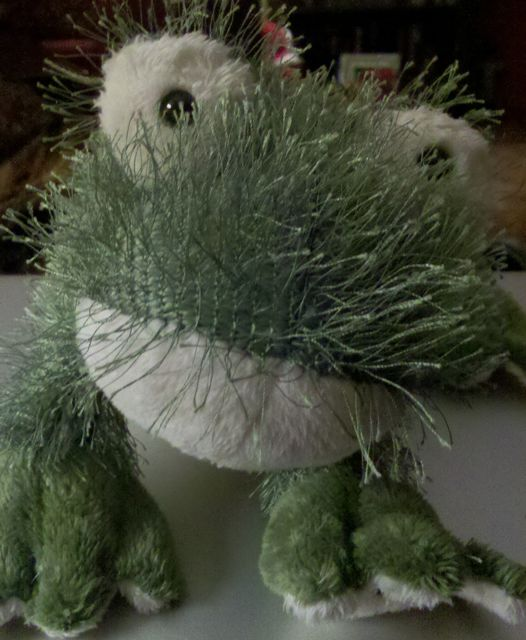 Nippers the stuffed frog