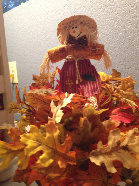 Scarecrow in Leaves
